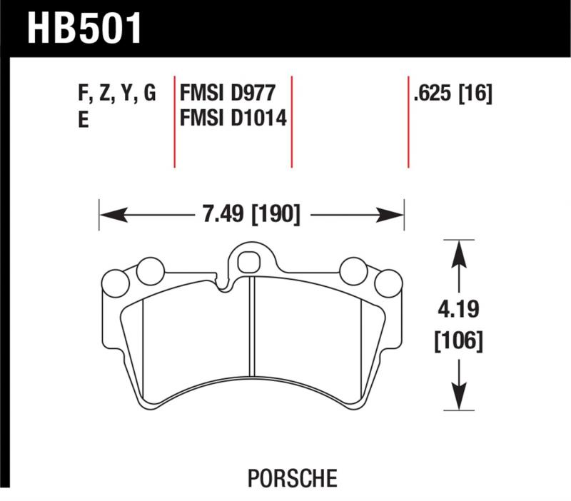 Hawk Performance HB501F.625 Disc Brake Pad Front