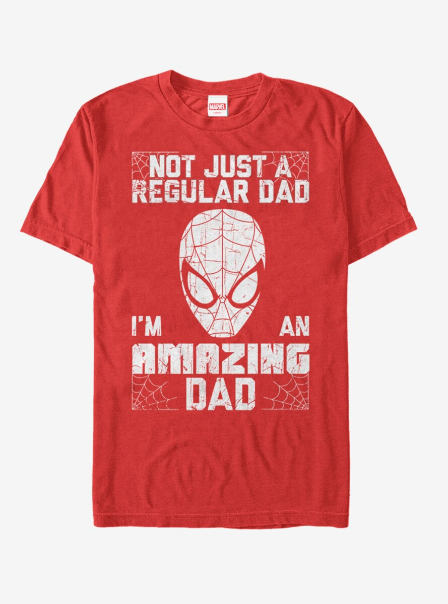Marvel Father's Day Spider-Man Not Regular Dad T-Shirt