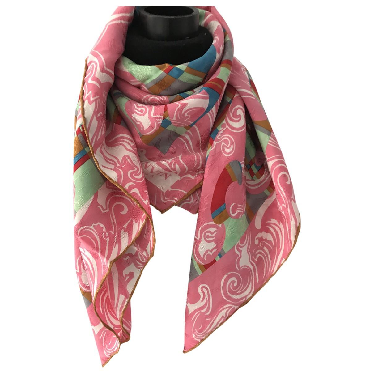 Lanvin \N Pink Silk Silk handkerchief for Women \N