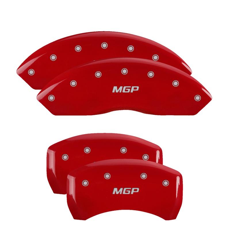 MGP Caliper Covers 34212SMGPRD Set of 4: Red finish, Silver MGP / MGP GMC Acadia 2017-2018