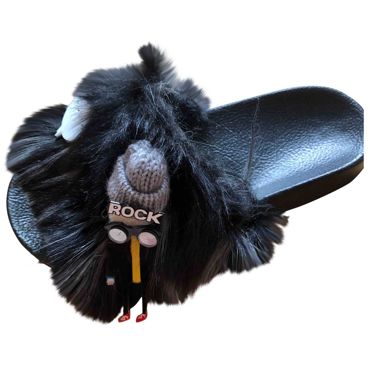 Steve Madden \N Black Rubber Mules & Clogs for Women 38 EU
