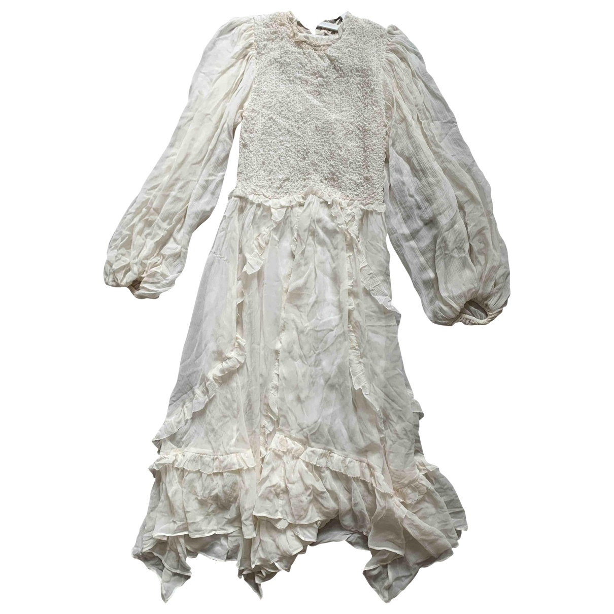Ulla Johnson \N Ecru Silk dress for Women 6 UK