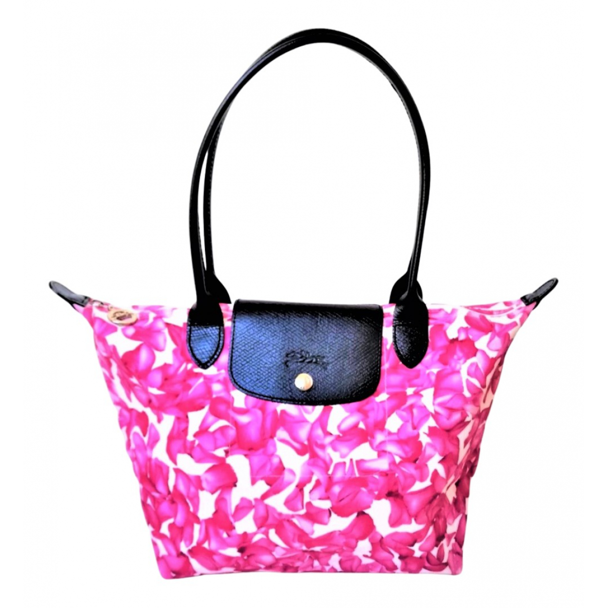 Longchamp Pliage  Pink Cloth handbag for Women \N