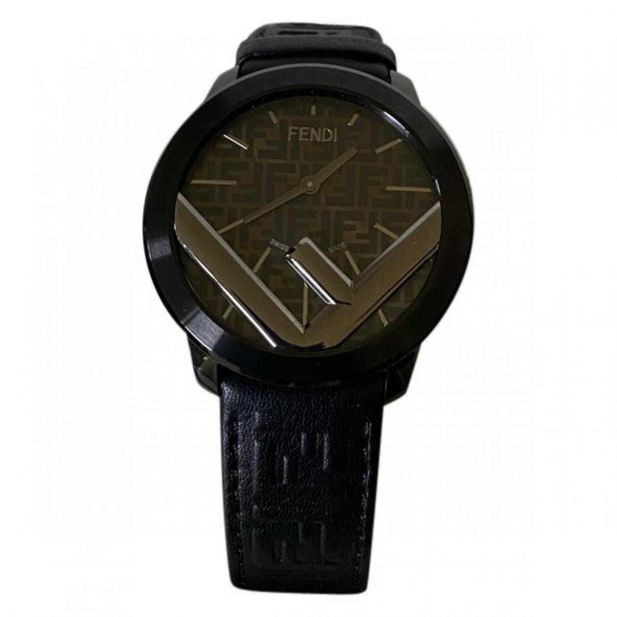 Fendi \N Black Steel watch for Men \N