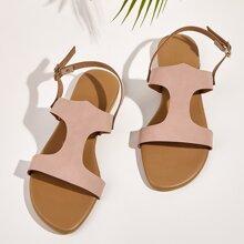 Cut Out Slingback Flat Sandals