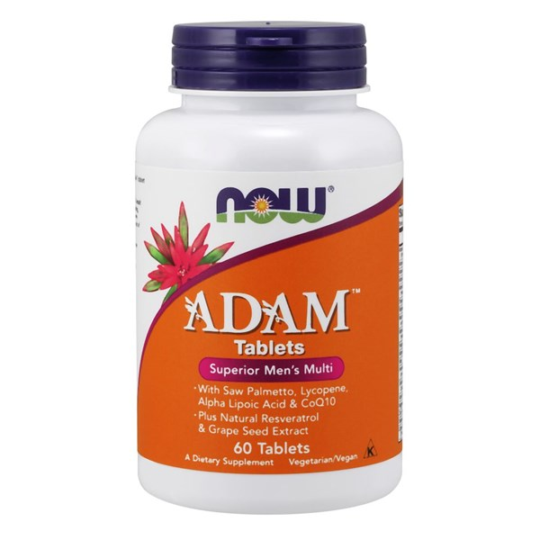 ADAM Men's Multiple Vitamin Superior 60 Tabs by Now Foods