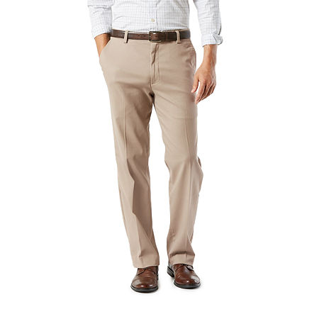 Dockers Men's Classic Fit Easy Khaki with Stretch Pants D3, 32 30, Brown