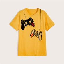Men Game Console Print Tee