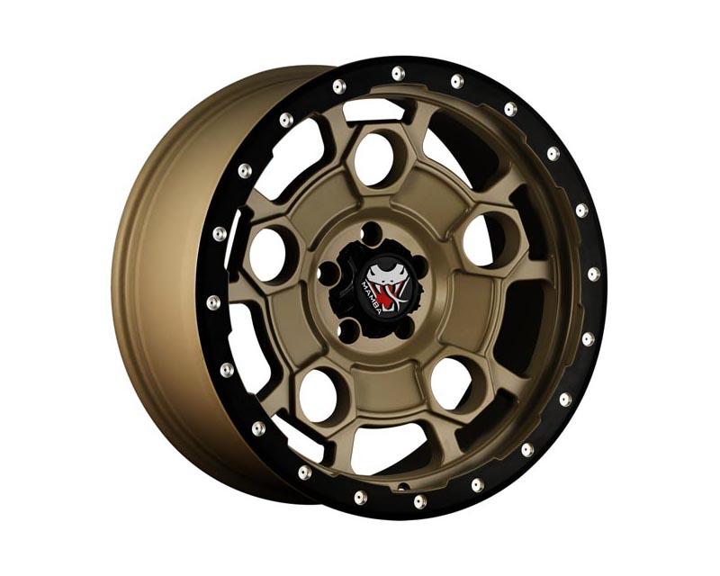 Mamba Wheels M26293612M M26 Wheel 20x9 6x1350 12 BZMTBL Mojave Sand w/Matte Black Lip Edge