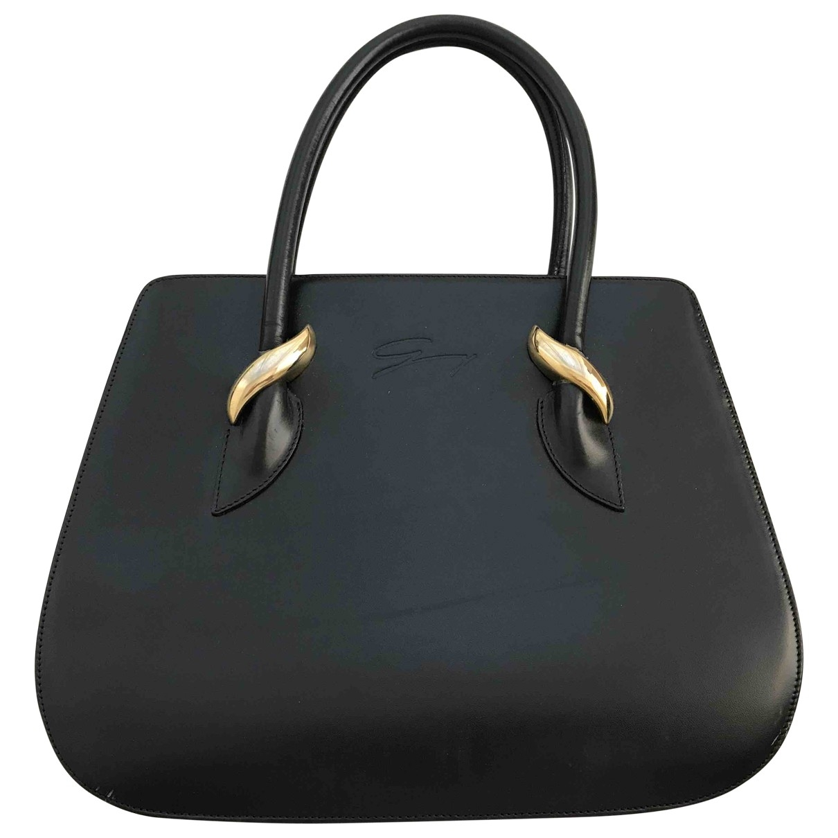 Genny \N Black Leather handbag for Women \N