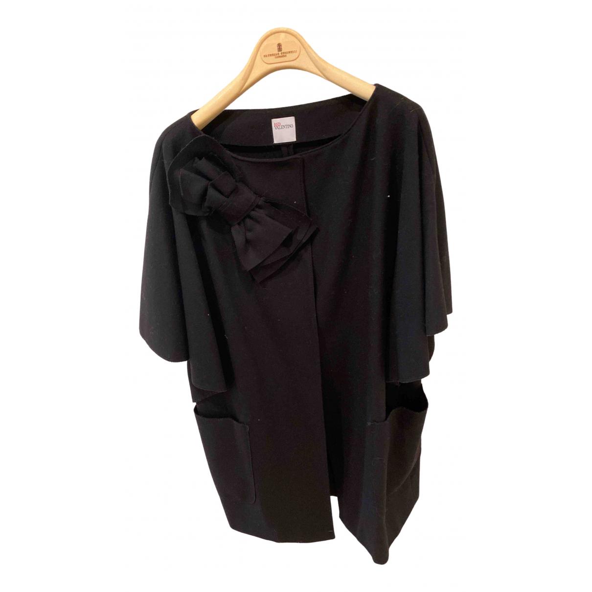 Red Valentino Garavani \N Black Wool coat for Women 44 IT