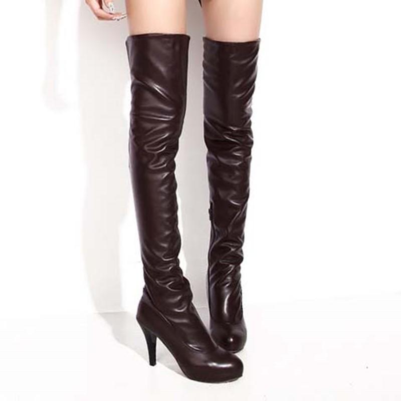 Ericdress Elegant Solid Color Knee High Boots