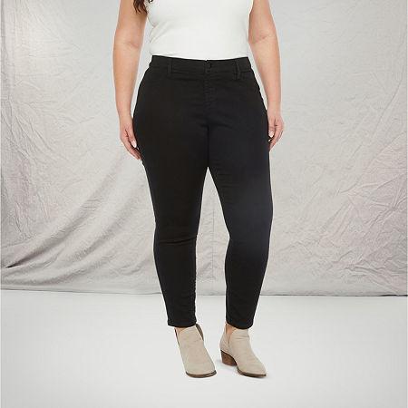 a.n.a-Plus Womens Skinny Stretch Jegging, 16w , Black