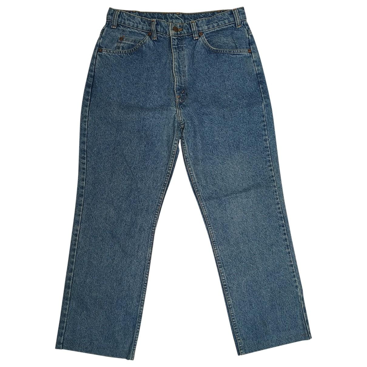 Levi's \N Blue Cotton Jeans for Women 32 US