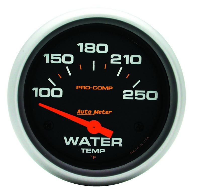 AutoMeter GAUGE; WATER TEMP; 2 5/8in.; 100-250deg.F; ELECTRIC; PRO-COMP