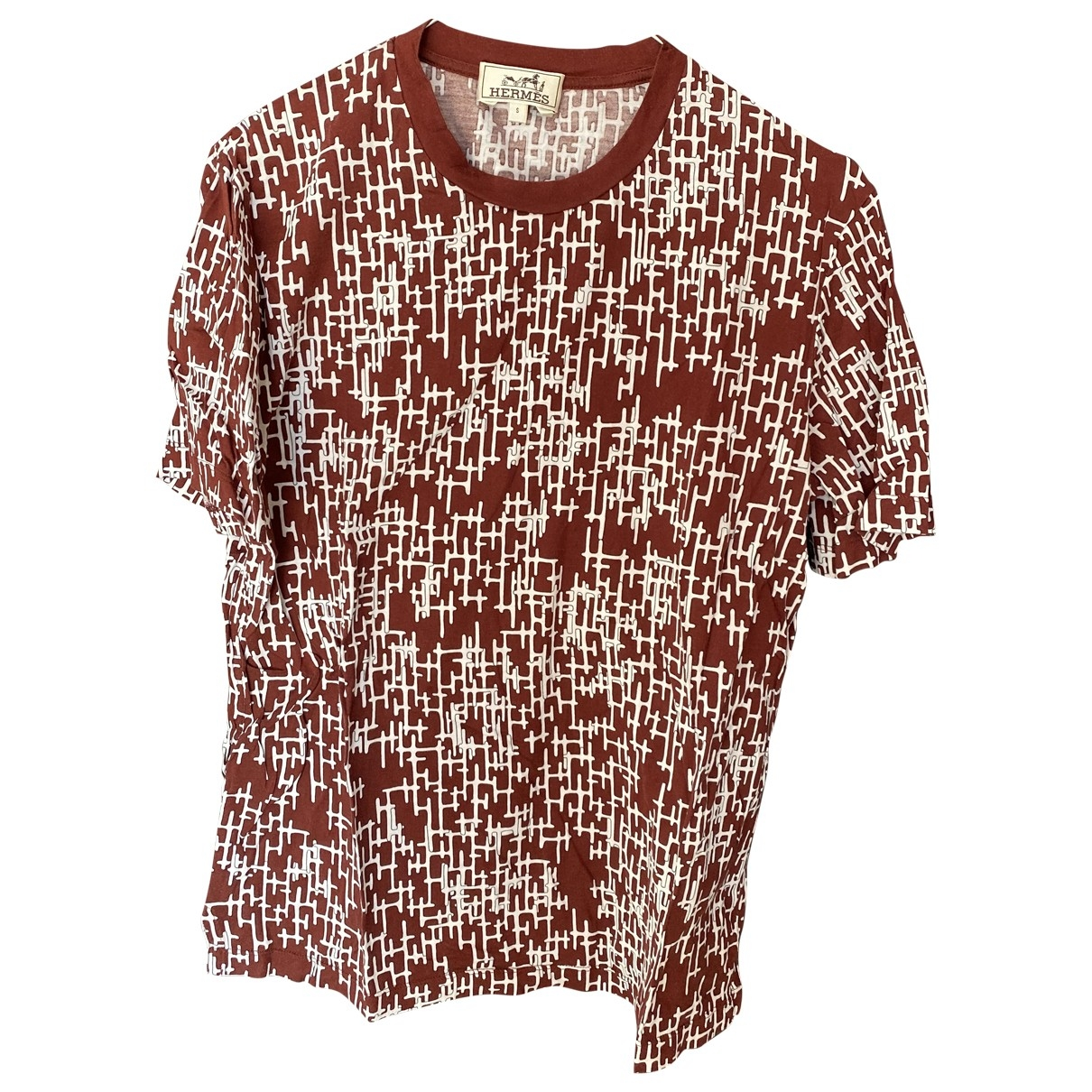 Hermès \N Red Cotton T-shirts for Men S International