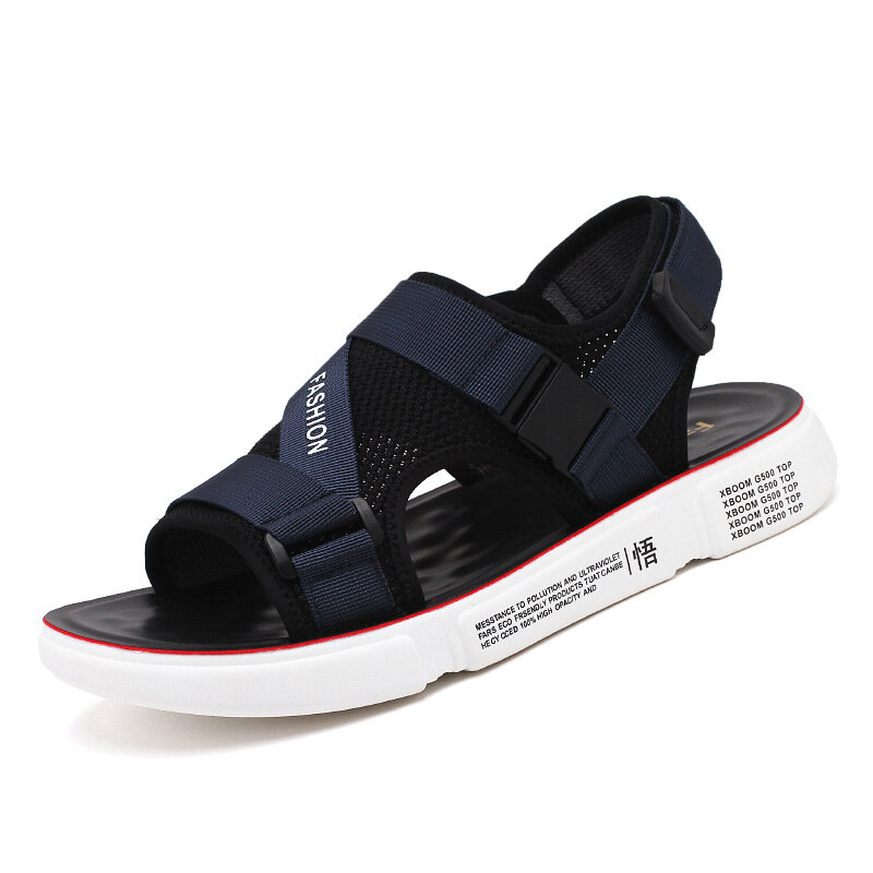 Men Mesh Panel Beathable Comfy Outdoor Beach Casual Sandals