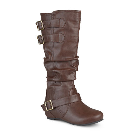 Journee Collection Womens Tiffany Slouch Riding Boots, 6 Medium, Brown