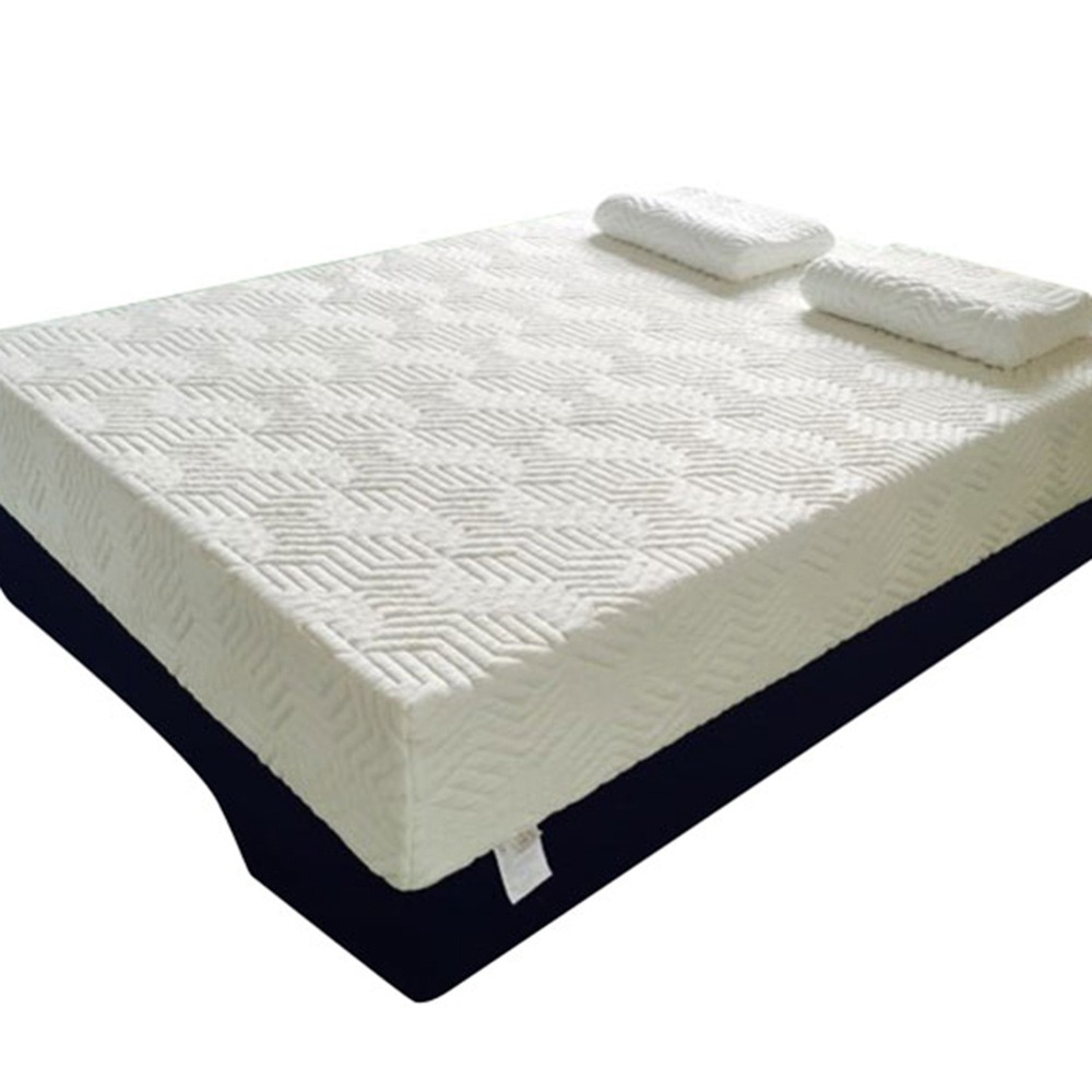 10 Inch 2-layer Silica Gel Memory Foam Mattress Ventilation Cool Comfortable With 2 Large Pillows - White
