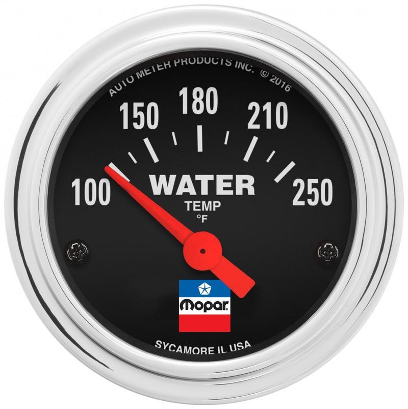 AutoMeter GAUGE; WATER TEMP; 2-1/16in.; 100-250`F; ELEC; MOPAR CLASSIC