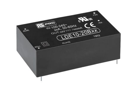 RS PRO , 10W Embedded Switch Mode Power Supply SMPS, 12V dc, Encapsulated