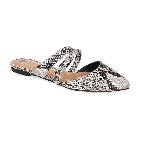 Journee Collection Womens Olivea Slip-On Shoe, 7 1/2 Medium, Multiple Colors