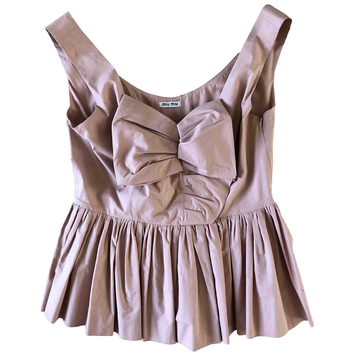Miu Miu \N Cotton  top for Women 42 IT