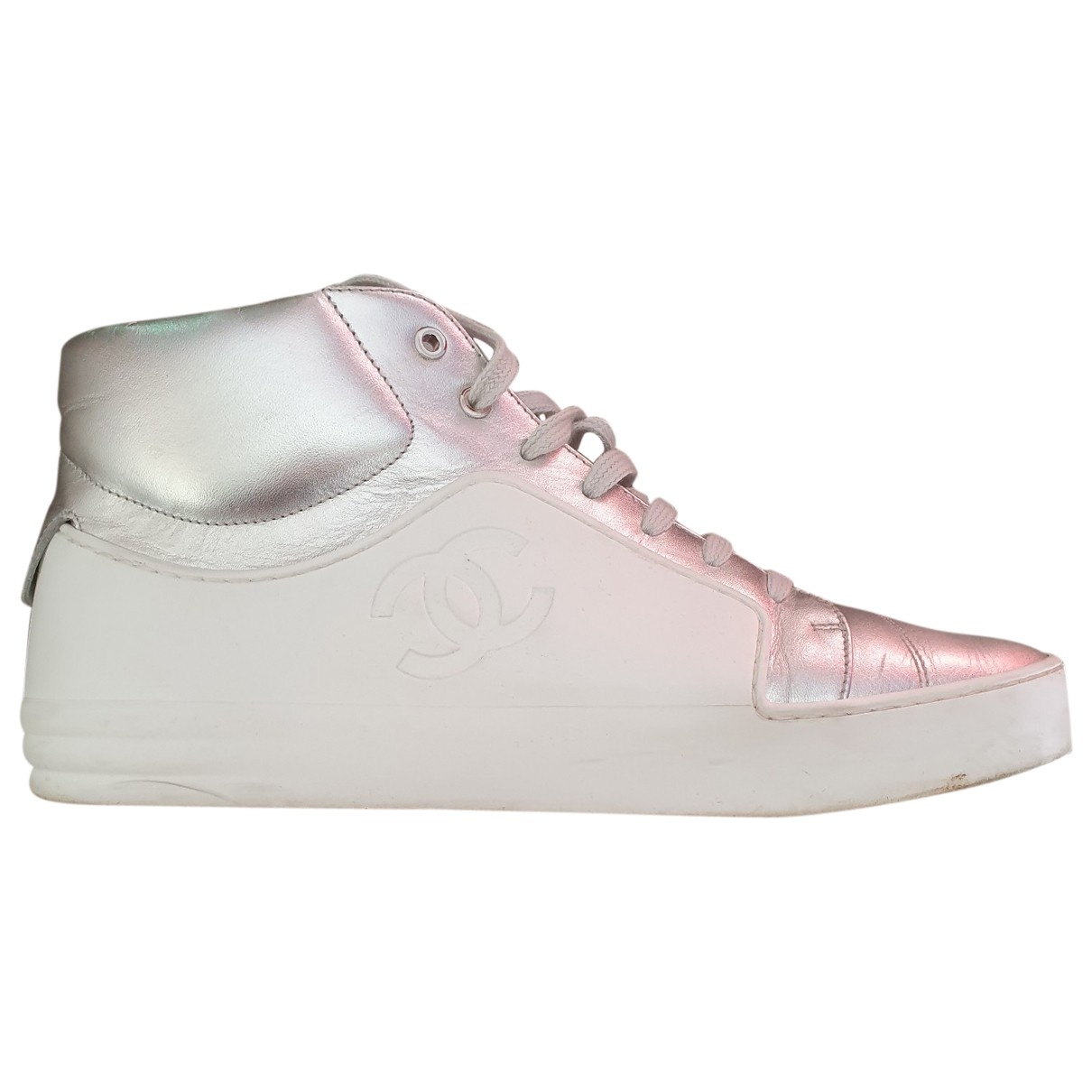 Chanel \N Silver Leather Trainers for Women 38 EU