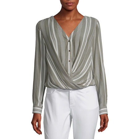 a.n.a Womens Long Sleeve Relaxed Fit Button-Down Shirt, Xx-large , Green