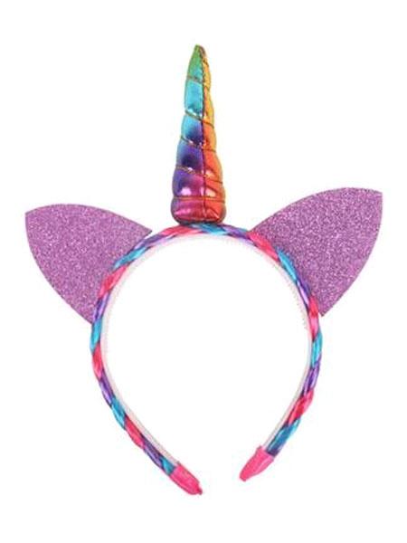 Milanoo Halloween Unicorn Costume Girls Color Block Headband