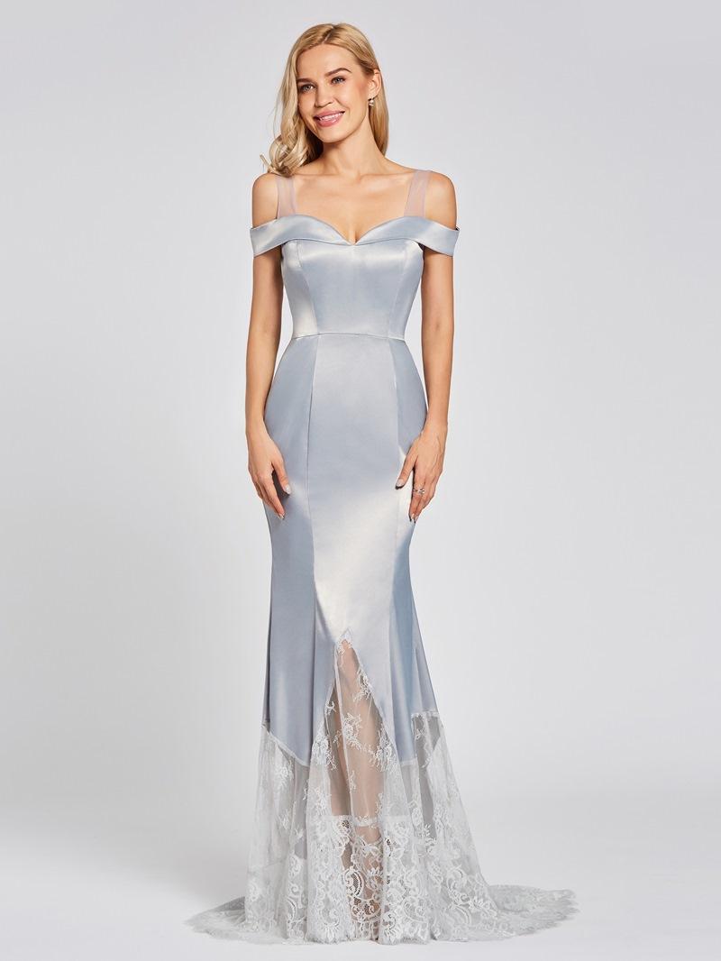 Ericdress Straps Lace Zipper-Up Mermaid Evening Dress