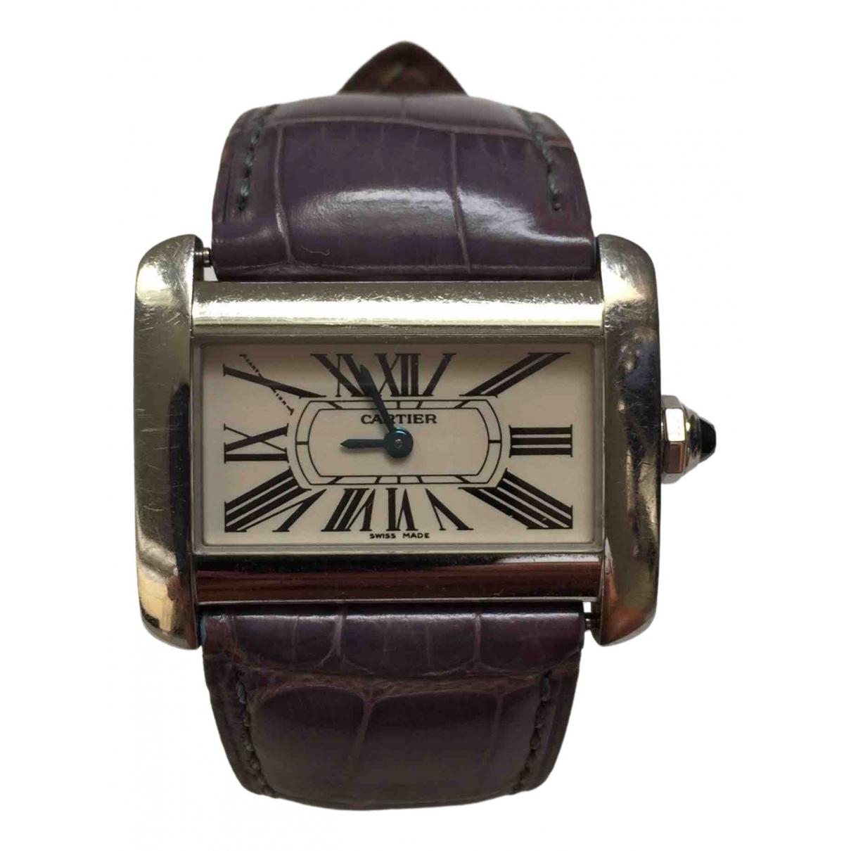 Cartier Divan Silver Steel watch for Women \N
