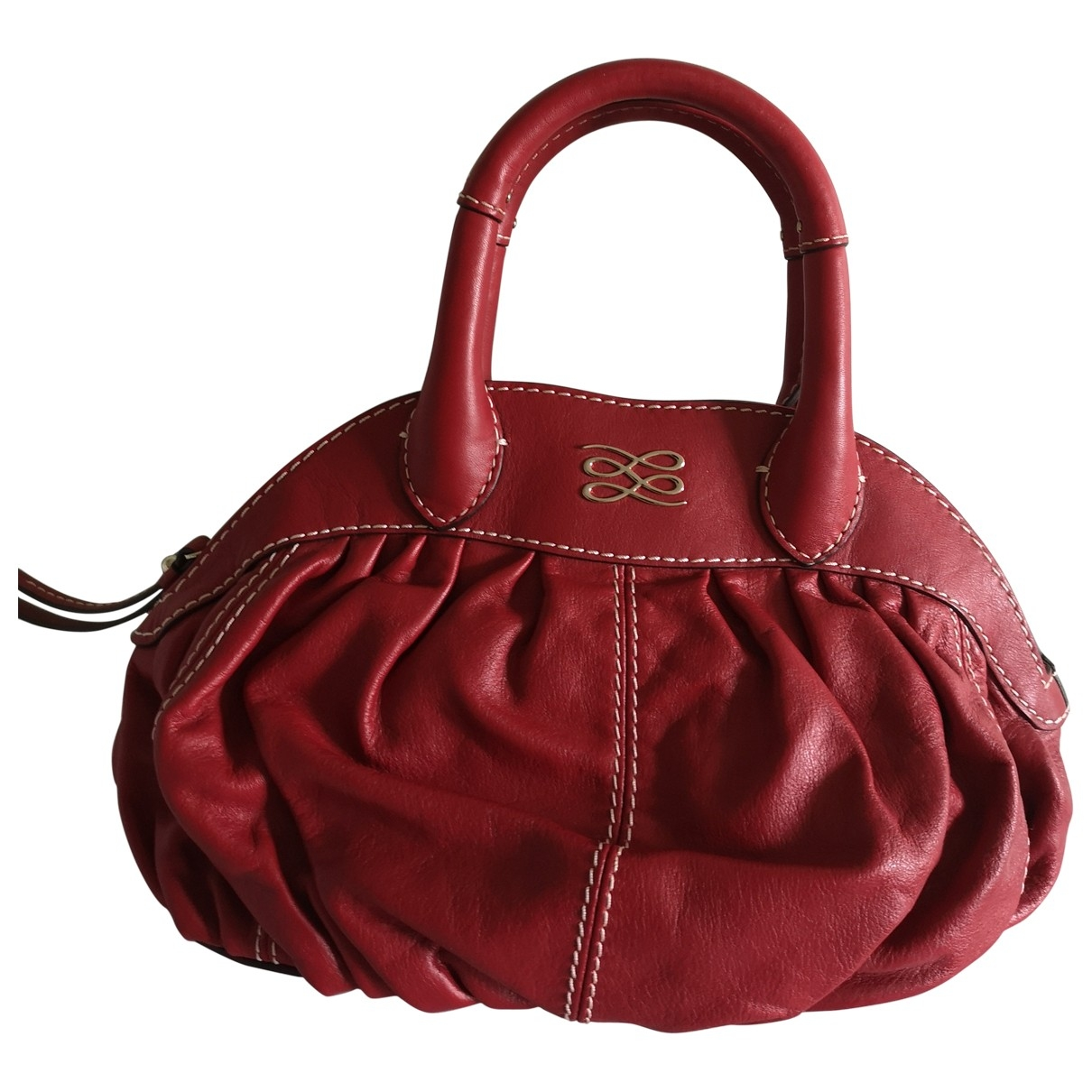 Lancel Gousset Red Leather handbag for Women \N