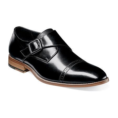 Stacy Adams Mens Desmond Monk-Strap Slip-On Shoe, 8 1/2 Medium, Black
