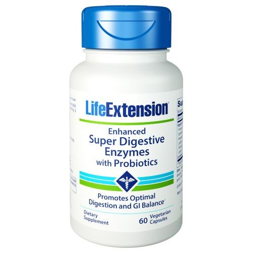 Enhanced Super Digestive Enzymes with Probiotics 60 Veg Caps by Life Extension