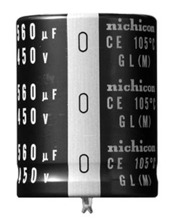 Nichicon 220μF Electrolytic Capacitor 450V dc, Through Hole - LGL2W221MELA35