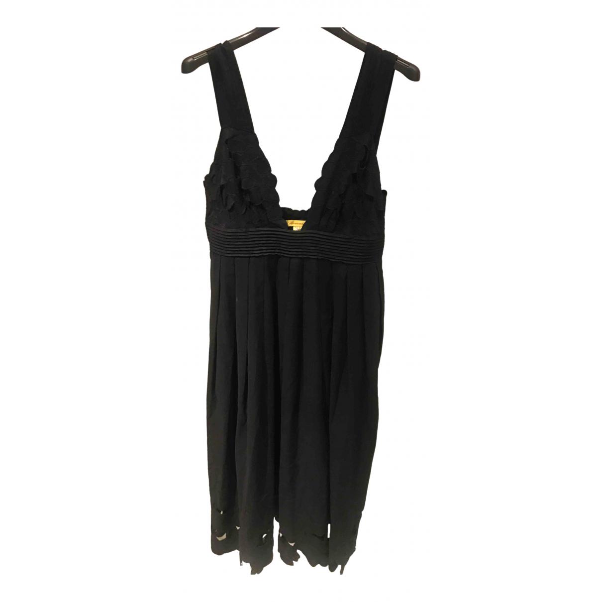 Catherine Malandrino \N Black Cotton dress for Women 8 US