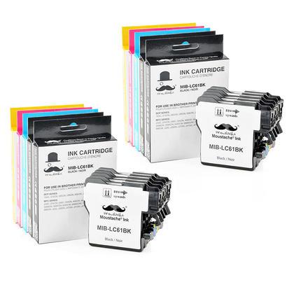 Compatible Brother MFC-290C Ink Cartridges BK/C/M/Y - Moustache