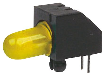Marl 125-511-04, Yellow Right Angle PCB LED Indicator, Through Hole 2.1 V