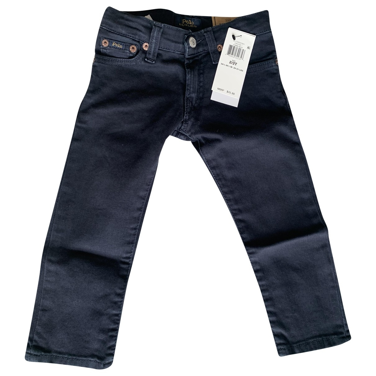 Polo Ralph Lauren \N Navy Cotton Trousers for Kids 2 years - until 34 inches UK
