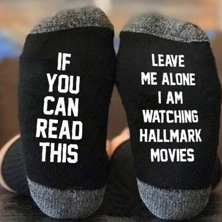 Casual Cotton Tube socks With Buzzword Letters