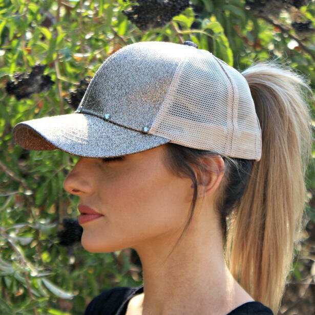 Women Simple Casual Solid Color Visor Breathable Mesh Sun Hat Baseball Hat