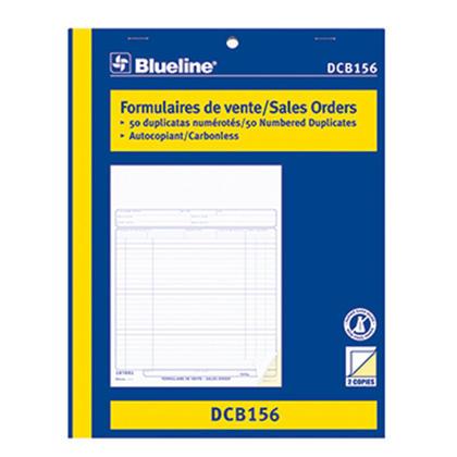 Commandes Blueline@ vente Carbonless Copy - 8-1/2 x 11� bilingual.,duplicate 232769