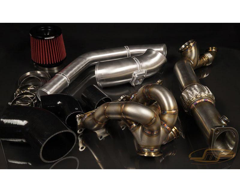 JM Fabrications EVOX-VBTRBOKIT-00-MVR EVO 10 Tial GT28/30/35 V-Band turbo hot and cold parts kit Recirculated with MVR wastegate flange