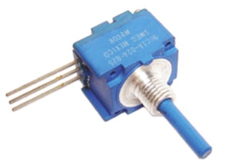 Bourns 1 Gang Rotary Conductive Plastic Potentiometer with an 6.35 mm Dia. Shaft - 50kΩ, ±20%, 0.5W Power Rating,