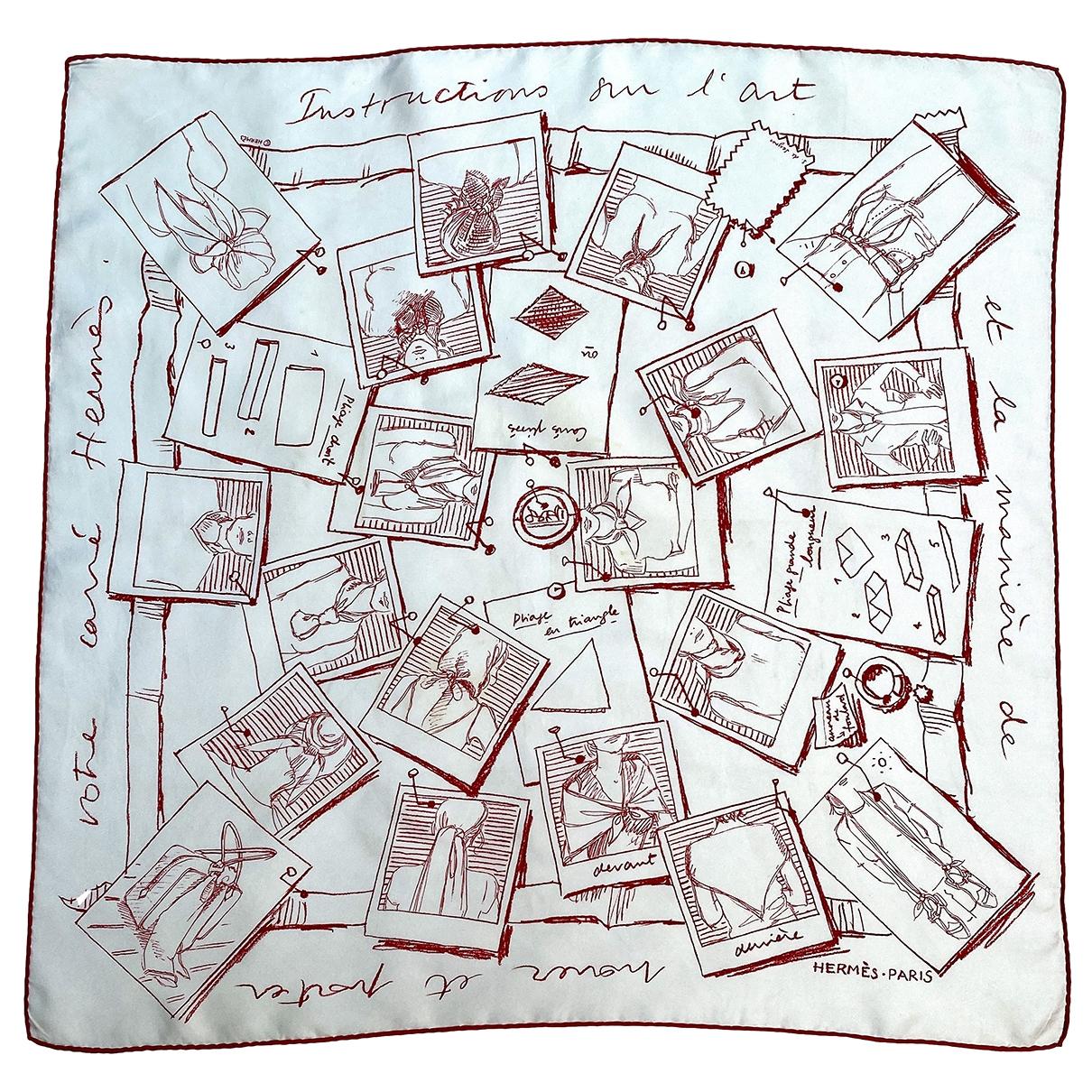 Hermès Carré 70 White Silk Silk handkerchief for Women \N