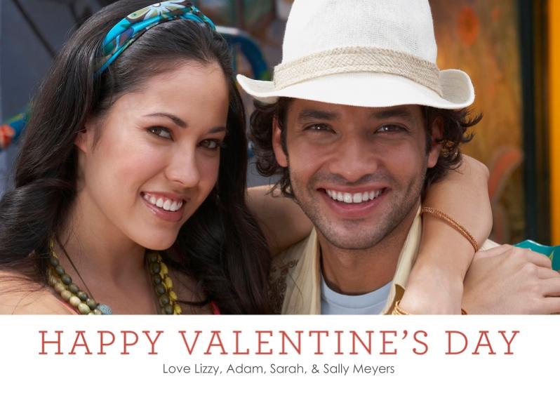 Valentine's Cards 5x7 Cards, Premium Cardstock 120lb with Elegant Corners, Card & Stationery -Modern Romance