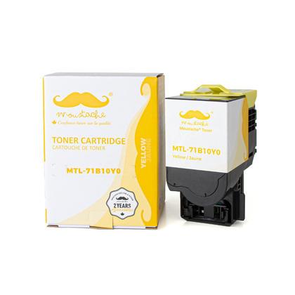 Lexmark 71B10Y0 Compatible Yellow Toner Cartridge - Moustache®