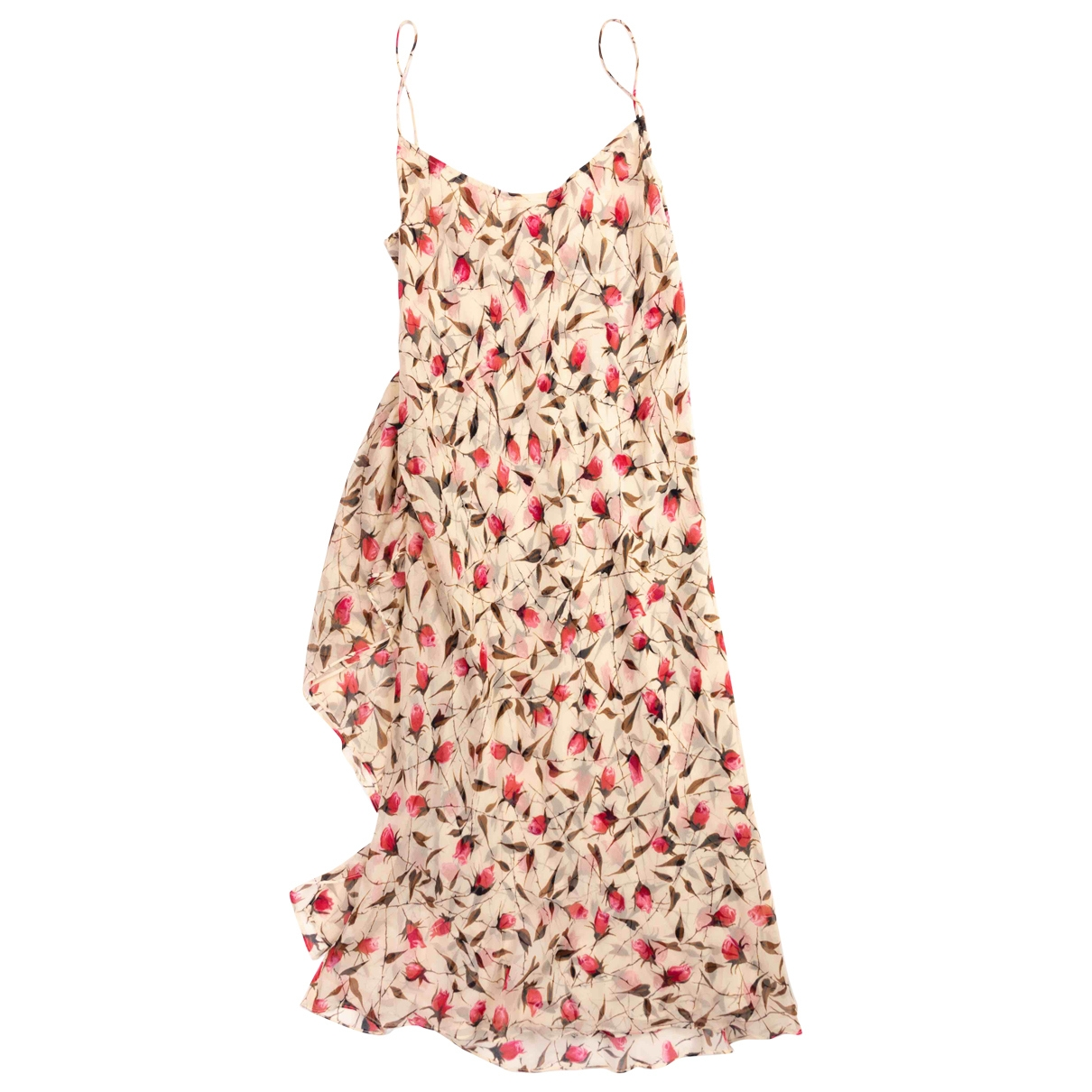 Diane Von Furstenberg \N Ecru Silk dress for Women 4 US