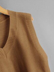 Solid V-neck Sweater Vest